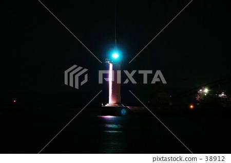 灯塔 黑色 夜景