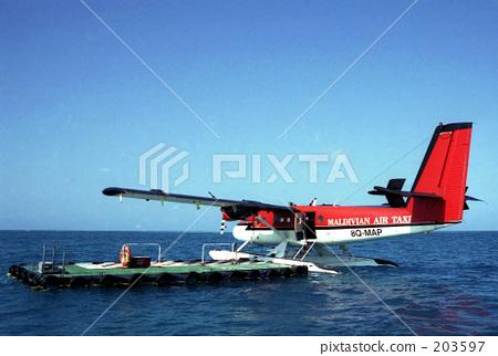 水上飞机 马尔代夫 露天