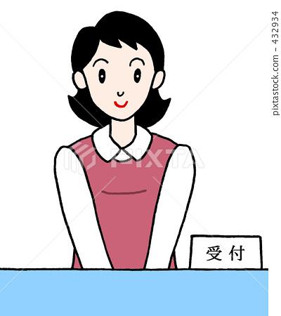 插图素材: 柜台 接待 问讯处