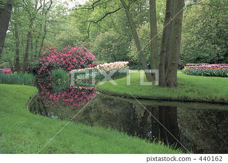 公园 小溪 非城市场景