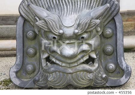 灰 兽面瓦 灰色-图片素材 [455356] - pixta
