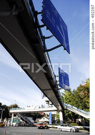 照片素材(图片): 表参道 路标 指路标志