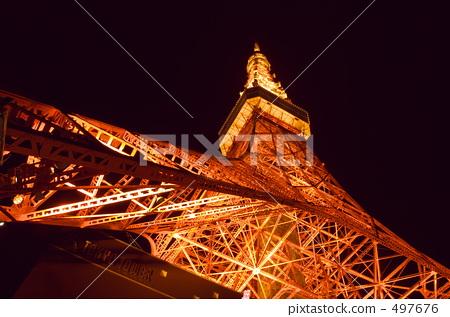 照明 东京塔 东京铁塔