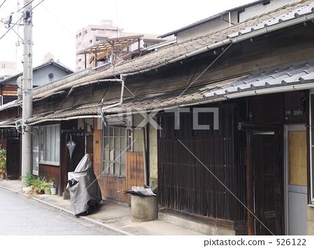 建筑 平房 连排式房屋