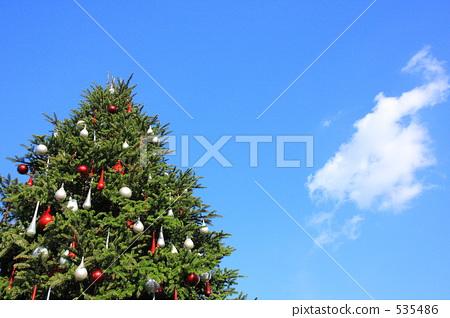 照片素材(图片): 圣诞树 空白部分 留白