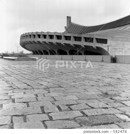 图库照片: 国立代代木体育馆 东京奥林匹克 1970