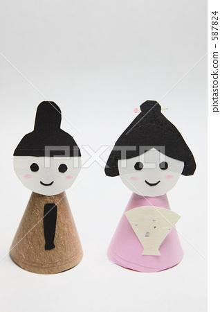 图库照片: hina matsuri手工制作的hina娃娃
