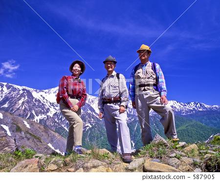 图库照片: 登山者 爬山 徒步旅行