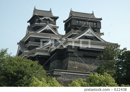 照片 日本风景 熊本 熊本城 熊本城 城堡塔楼 天守阁  *pixta限定素材
