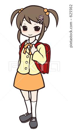 插图素材: 小学生 书包 数字动画