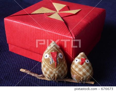 小盒子 红叶 手工艺品