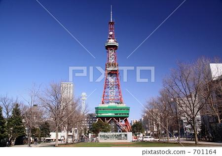 札幌电视塔 塔 天线杆