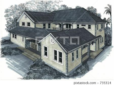8x15带天井房屋土建设计图