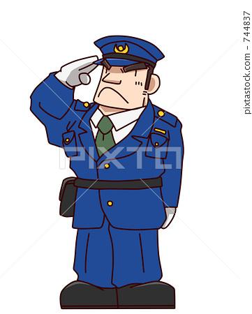 巡逻矢量图片素材
