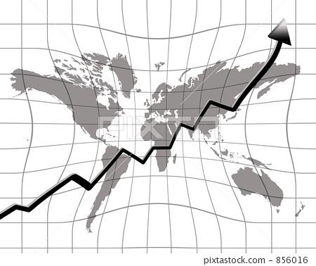 世界地图 箭头 网格图