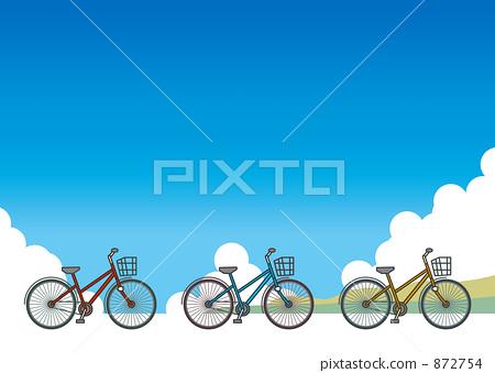 城市圈 自行车 马车