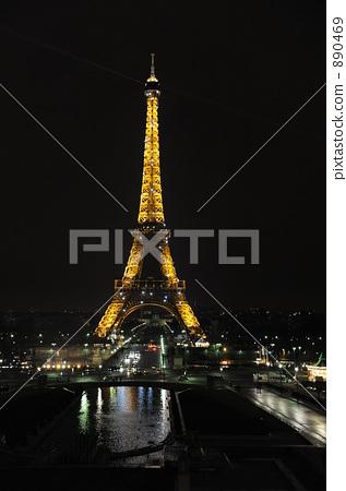 夜景 埃菲尔铁塔 艾菲尔铁塔