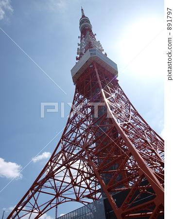 东京铁塔 无线电塔 天线杆