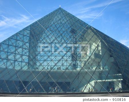 图库照片: 玻璃金字塔 三角形 沼公园