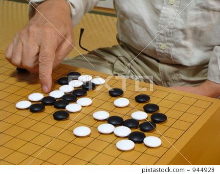 身体_身体部分 手 围棋盘 围棋子 白色石头  *pixta限定素材仅在pixta