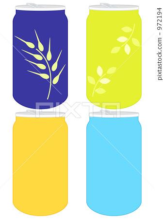一听啤酒热量_图库插图: 一听啤酒 罐装果汁 罐子