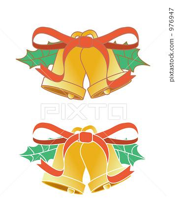 插图素材: 圣诞装饰品 圣诞铃 装饰品