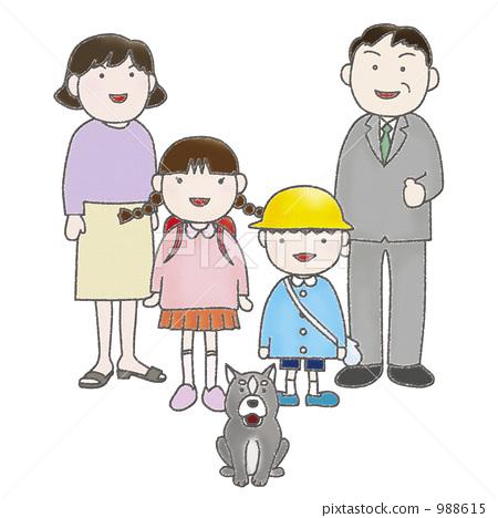 插图素材: 家庭 爸爸 家族