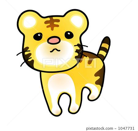 插图 一个小老虎孩子 首页 插图 动物_鸟儿 陆生动物 老虎 一个小老虎