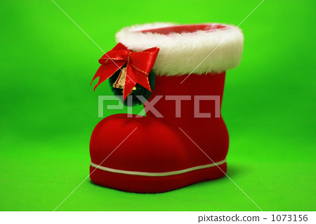 照片素材(图片): 靴子 红菱艳 圣诞老人