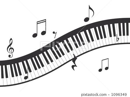 音符 键盘 钢琴