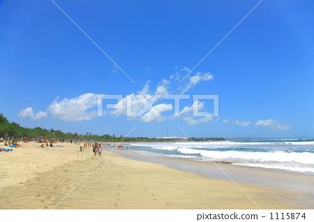 图库照片: 海水浴场 库塔海滩 巴厘岛