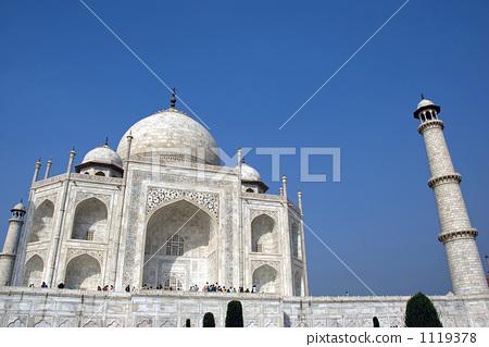 泰姬陵 印度 宣礼塔