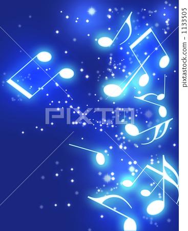 图库插图: 高音谱号 四分音符 笔记