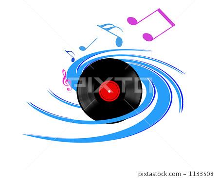 图库插图: 四分音符 高音谱号 笔记