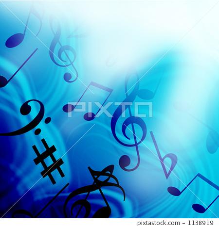 音乐 四分音符 高音谱号