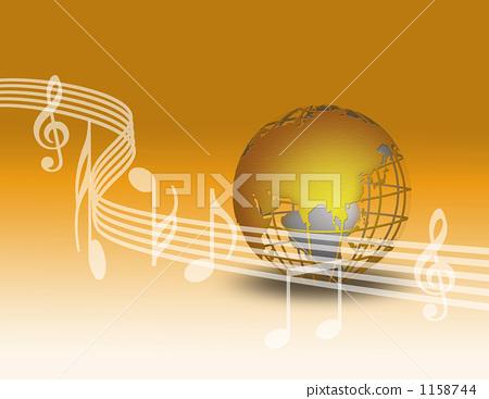 音符 高音谱号 乐谱