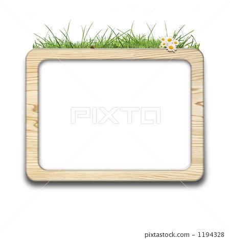 框架 草本 白色背景