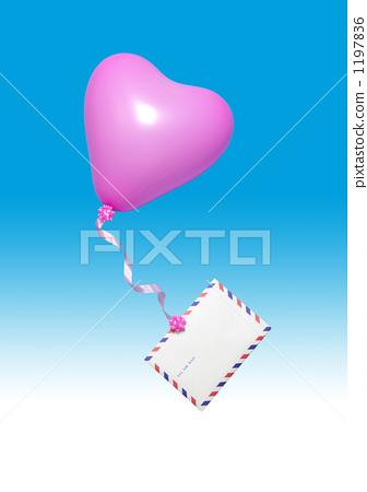 气球 航空邮件 信-图片素材 [1197836] - pixta