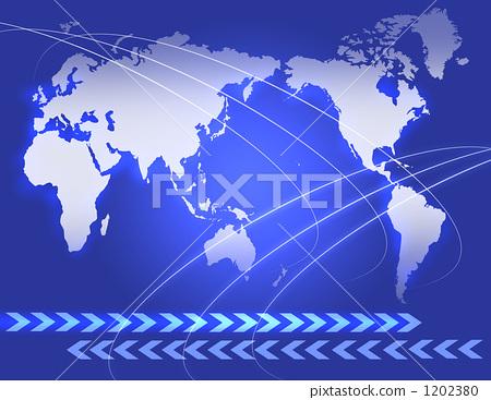 箭头 世界地图 世界