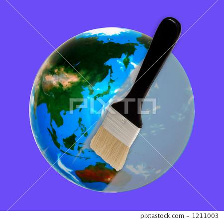 地球 空气污染 刷子