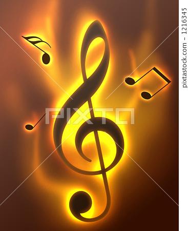 高音谱号 音符 描述