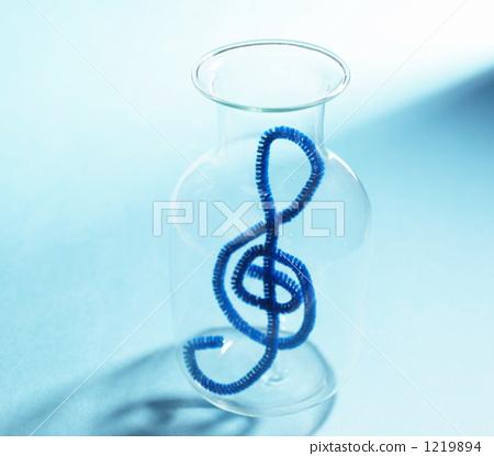 音乐 高音谱号 蓝色