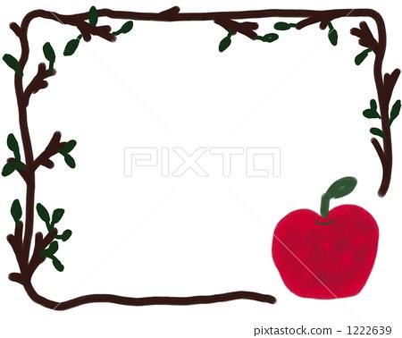 树手绘边框铅笔绘画