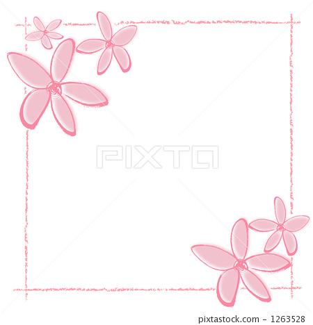 花朵简笔画边框