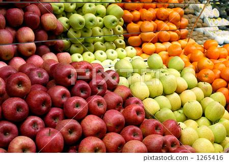 水果 苹果树上 橙子