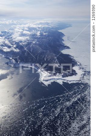 浮冰 高海拔的天空 冬天