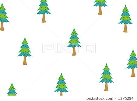 雪松树树矢量图