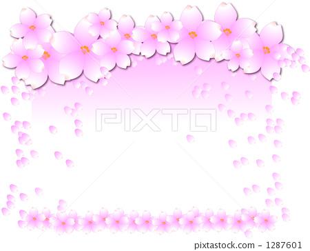 樱桃树图片 绘画的