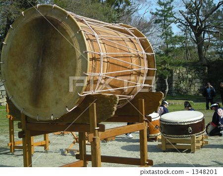 stock photo: festival big drum and small drum