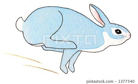 图库插图: 小动物 一个鸡蛋 兔子